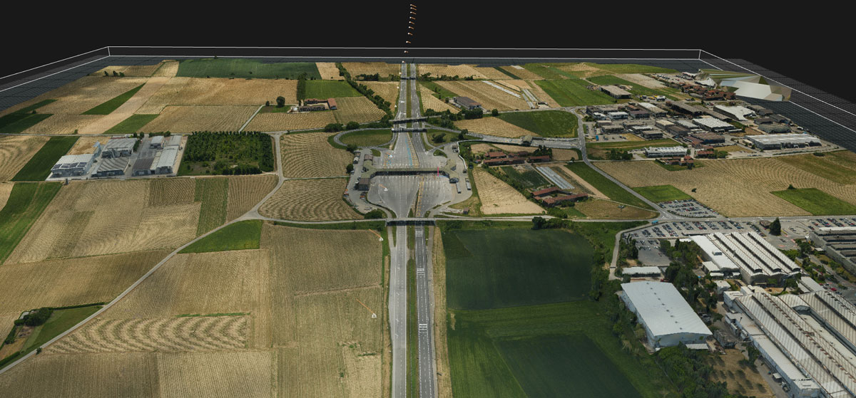 Carmagnola Highway Exit, Photogrammetry