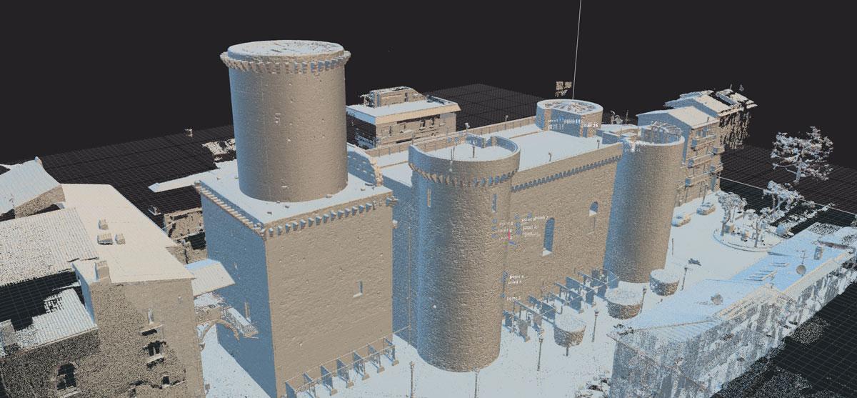 Castello di Fondi, Rilievo 3D